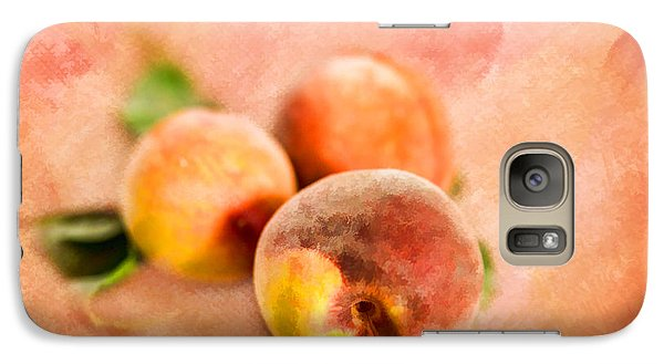 Galaxy Case featuring the photograph Peachy by Mary Timman