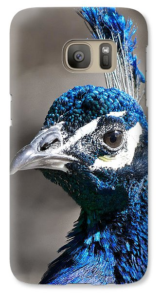 Galaxy Case featuring the photograph Peacock Blue by Stephen  Johnson