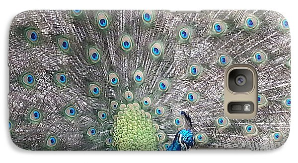 Galaxy Case featuring the photograph Peacock Bow by Caryl J Bohn