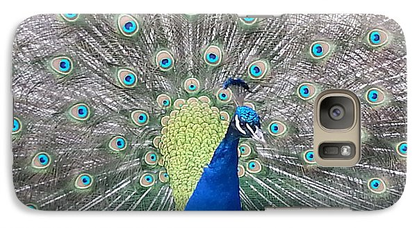 Galaxy Case featuring the photograph Peacock by Caryl J Bohn
