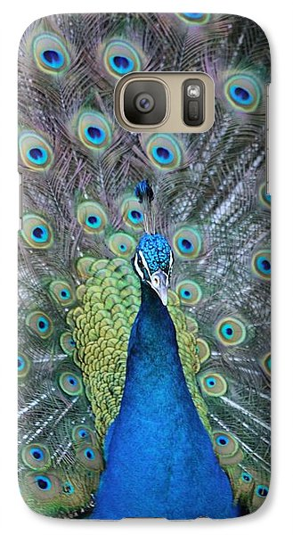 Galaxy Case featuring the photograph Peacock by Elizabeth Budd