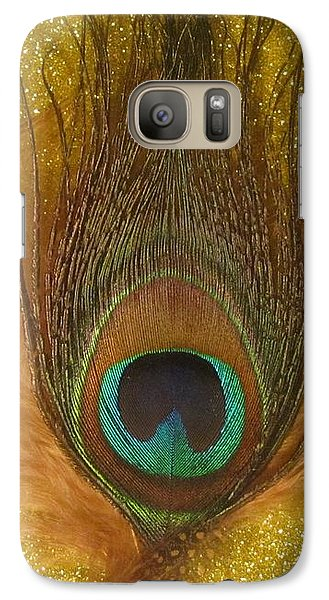 Galaxy Case featuring the photograph Peacock Feather by Jeepee Aero