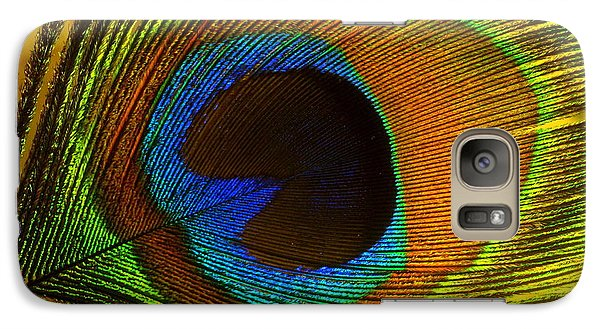 Galaxy Case featuring the photograph Peacock Feather by Ranjini Kandasamy