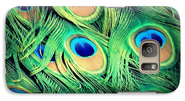Galaxy Case featuring the photograph Peacock Feathers by David Mckinney