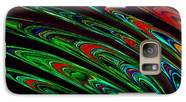 Galaxy Case featuring the digital art Peacock Feathers by Gayle Price Thomas