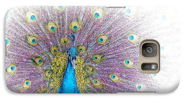 Galaxy Case featuring the photograph Peacock by Holly Kempe