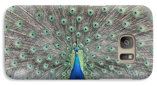Galaxy Case featuring the photograph Peacock by John Telfer