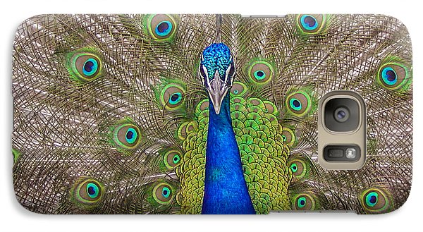 Galaxy Case featuring the photograph Peacock by Leigh Anne Meeks