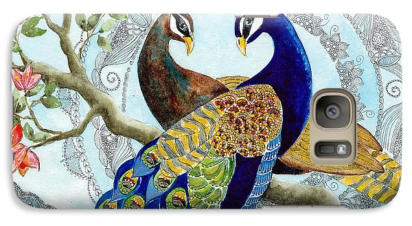 Peacock Love Galaxy Case by Susy Soulies