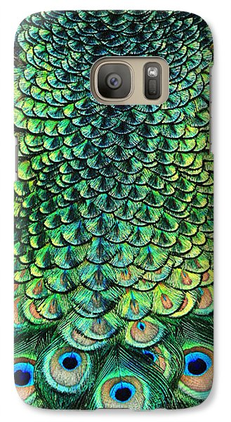 Galaxy Case featuring the photograph Peacock Pano by Clare VanderVeen