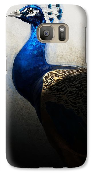 Galaxy Case featuring the digital art Peacock Portrait by Aaron Blaise