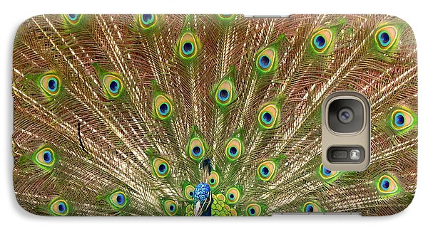 Galaxy Case featuring the photograph Peacock Proud by Myrna Bradshaw