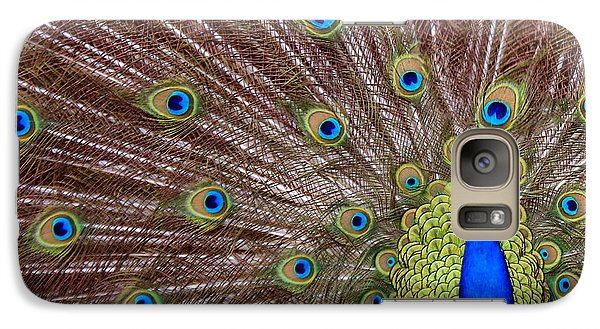 Galaxy Case featuring the photograph Peacock Squared by Jaki Miller