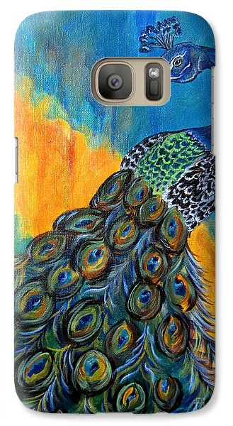Galaxy Case featuring the painting Peacock Waltz #3 by Ella Kaye Dickey