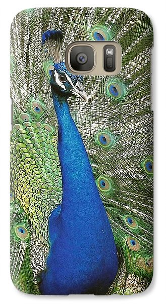 Galaxy Case featuring the photograph Peacock Waltz by Ella Kaye Dickey