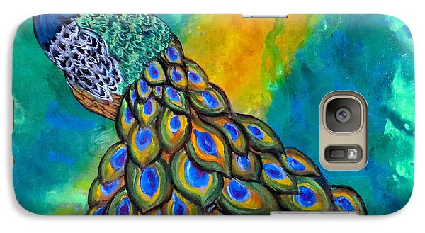 Galaxy Case featuring the painting Peacock Waltz II by Ella Kaye Dickey