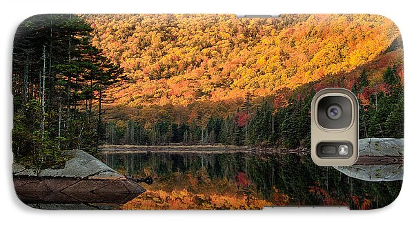 Galaxy Case featuring the photograph Peak Fall Foliage On Beaver Pond by Jeff Folger