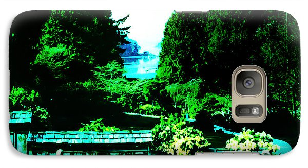 Galaxy Case featuring the photograph Peaking At Gorge Waterway Victoria British Columbia by Eddie Eastwood