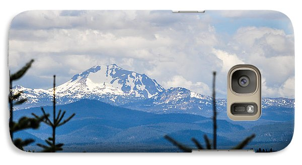 Galaxy Case featuring the photograph Peaking The Clouds by Jan Davies