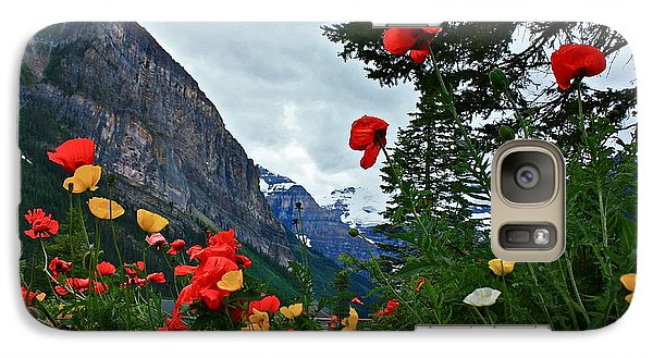 Galaxy Case featuring the photograph Peaks And Poppies by Linda Bianic