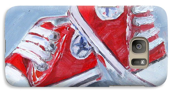 Galaxy Case featuring the painting Peanut All-star by MaryAnne Ardito
