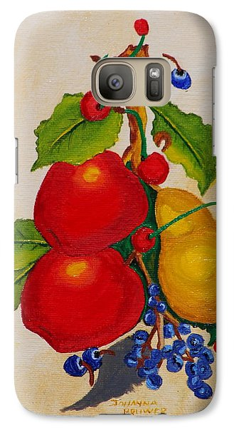 Galaxy Case featuring the painting Pear And Apples by Johanna Bruwer