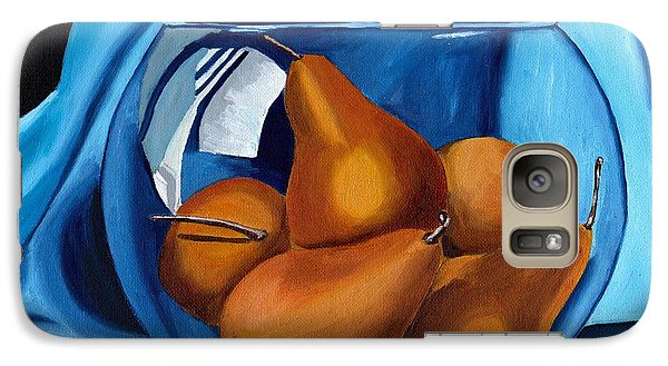 Galaxy Case featuring the painting Pear Anyone by Laura Forde