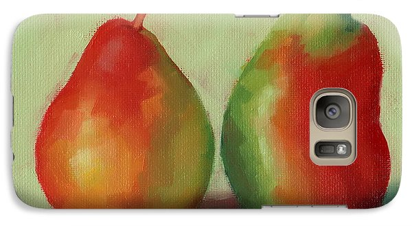 Galaxy Case featuring the painting Pear Pair by Margaret Stockdale