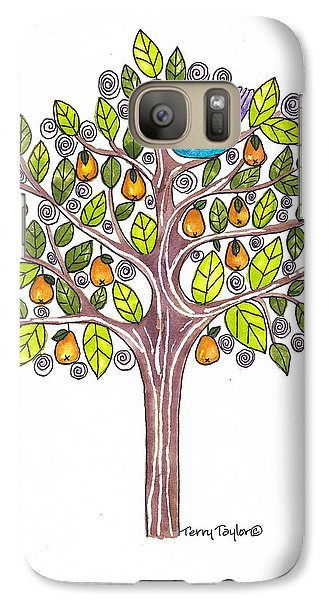 Galaxy Case featuring the painting Pear Tree by Terry Taylor