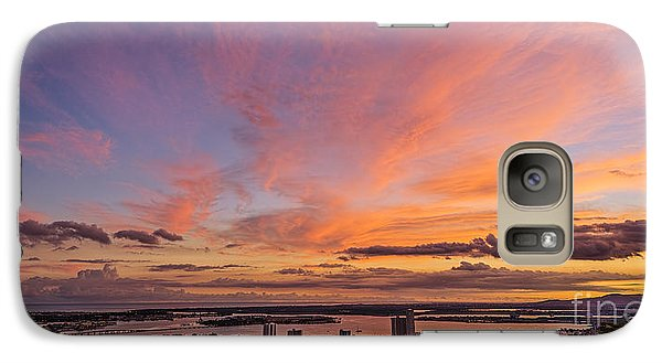 Galaxy Case featuring the photograph Pearl Harbor At Sunset by Aloha Art
