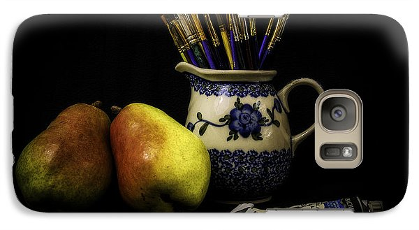 Pears And Paints Still Life Galaxy S7 Case by Jon Woodhams