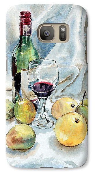 Galaxy Case featuring the painting Pears And Wine by Joey Agbayani