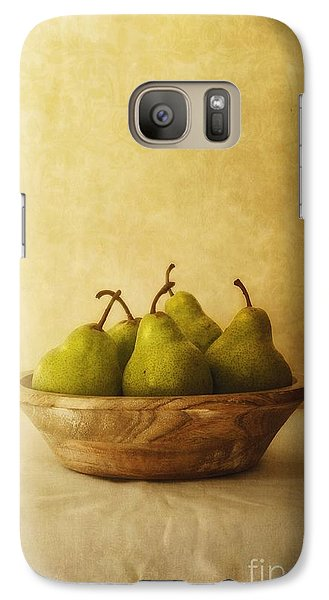 Pears In A Wooden Bowl Galaxy S7 Case