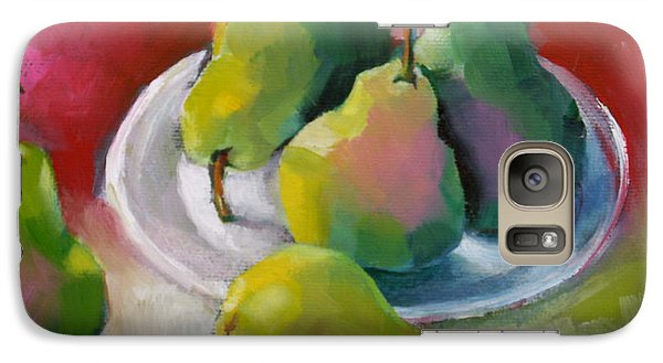 Galaxy Case featuring the painting Pears by Michelle Abrams