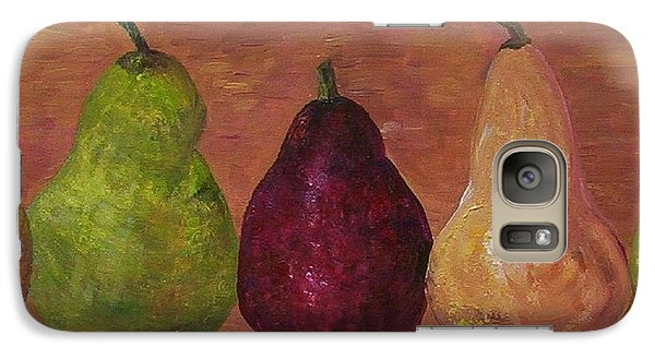 Galaxy Case featuring the painting Pears On Parade   by Eloise Schneider