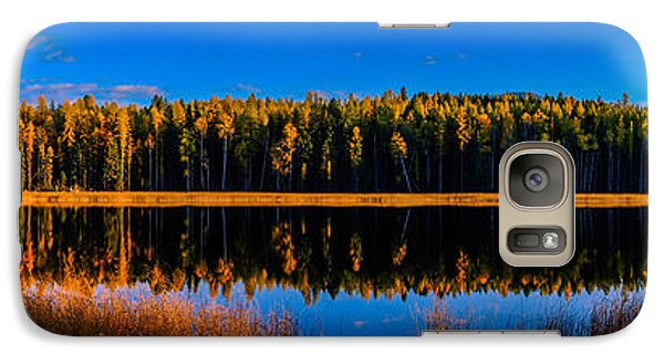 Galaxy Case featuring the photograph Peavine Pond Panorama by Rob Tullis