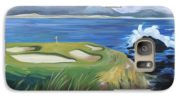 Galaxy Case featuring the painting Pebble Beach Scene by Debbie Hart