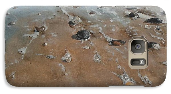 Galaxy Case featuring the painting Pebbles by Cherise Foster