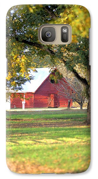Galaxy Case featuring the photograph Pecan Orchard Barn by Gordon Elwell