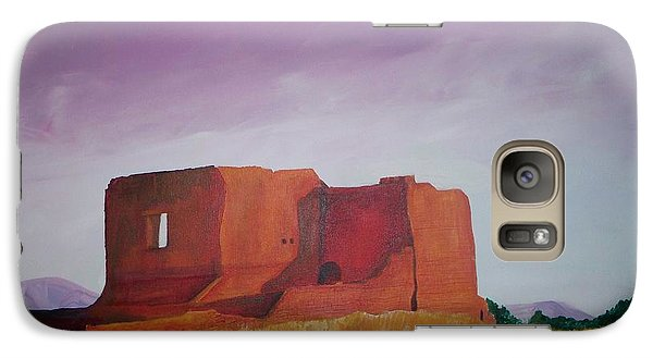 Galaxy Case featuring the painting Pecos Mission Landscape by Eric  Schiabor