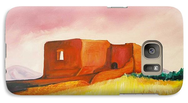 Galaxy Case featuring the painting Pecos Mission Nm by Eric  Schiabor