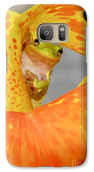 Galaxy Case featuring the photograph Peek A Boo by Kathy Gibbons