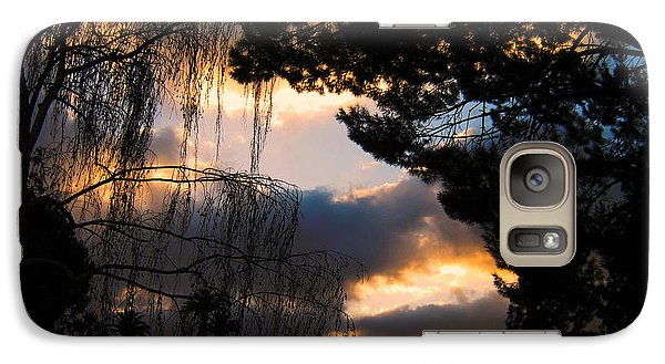 Galaxy Case featuring the photograph Peek A Boo Sunset by Janice Westerberg