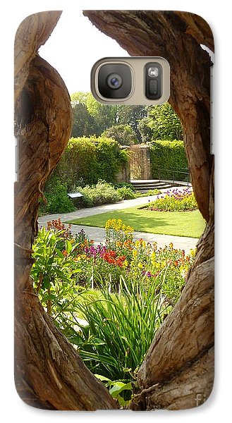 Galaxy Case featuring the photograph Peek At The Garden by Vicki Spindler