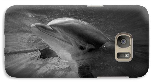 Galaxy Case featuring the photograph Peeking Dolphin by Amanda Eberly-Kudamik
