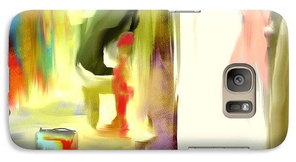 Galaxy Case featuring the painting Peeking Graffiti Bunny by Jessica Wright