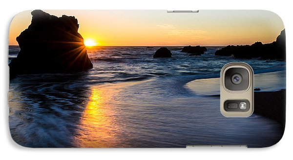Galaxy Case featuring the photograph Peeking Sun by CML Brown