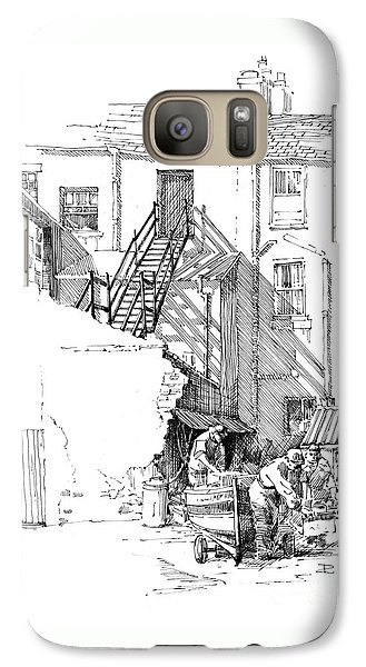 Galaxy Case featuring the drawing Peel Back Street by Paul Davenport