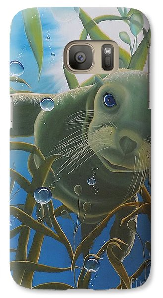 Galaxy Case featuring the painting Peepers by Dianna Lewis