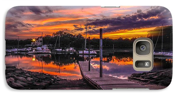 Galaxy Case featuring the photograph Peering At The Sunset by Glenn Feron